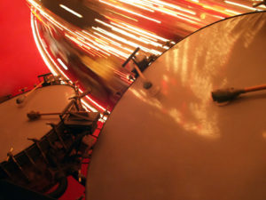 Snare drum, cymbal and lights from a merry go round